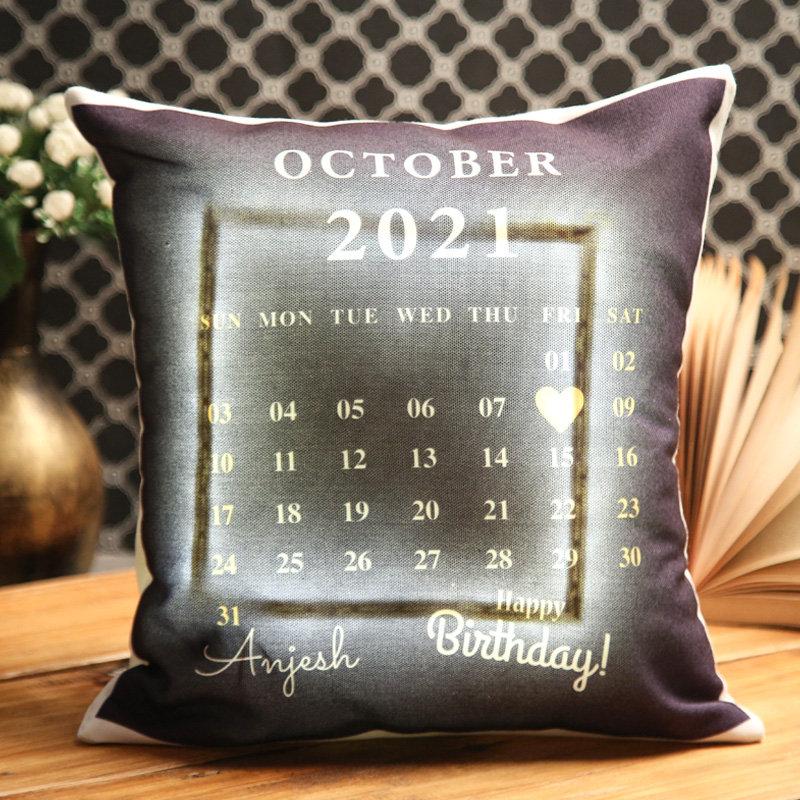 Love-Filled Led Calendar Birthday Cushion