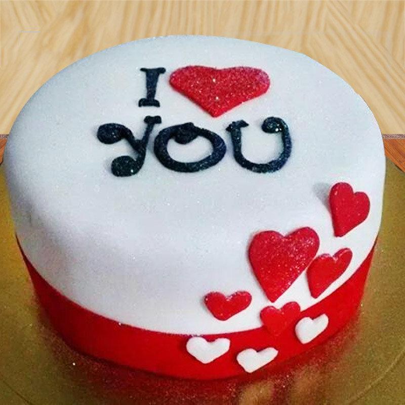 I Love You Designer Cake