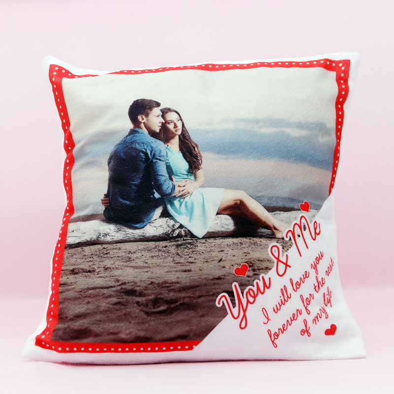Love Forever Cushion with Personalised Photo