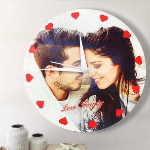 Personalised Wall Clock for Couple - Valentine Day Gift