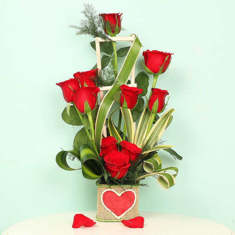 Red Roses Arrangement For Online Delivery