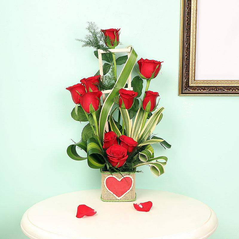 Buy Red Roses Arrangement Online