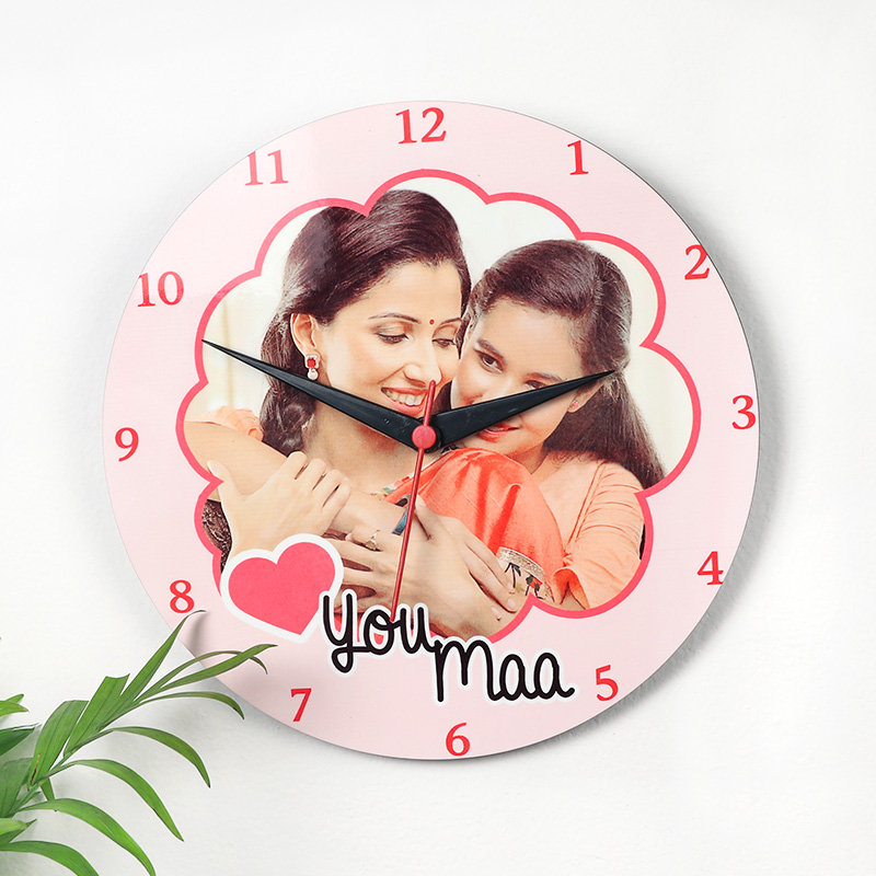 Personalised Mothers day Wall Clock