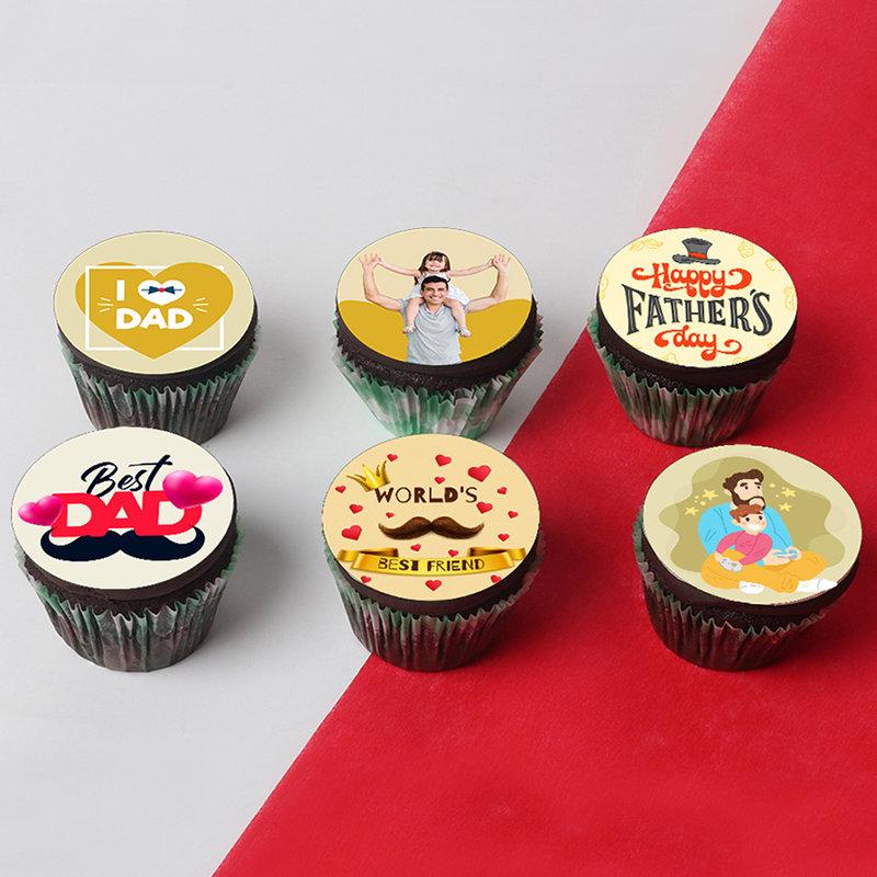 Love My Dad Custom Cupcakes