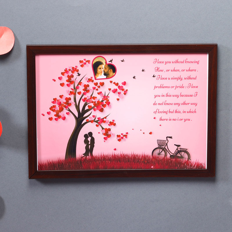 Personalized Photo Frame with Romantic Love Quotes