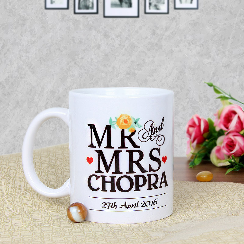 Love Reloaded - A Customised Anniversary Mug with Back Side View