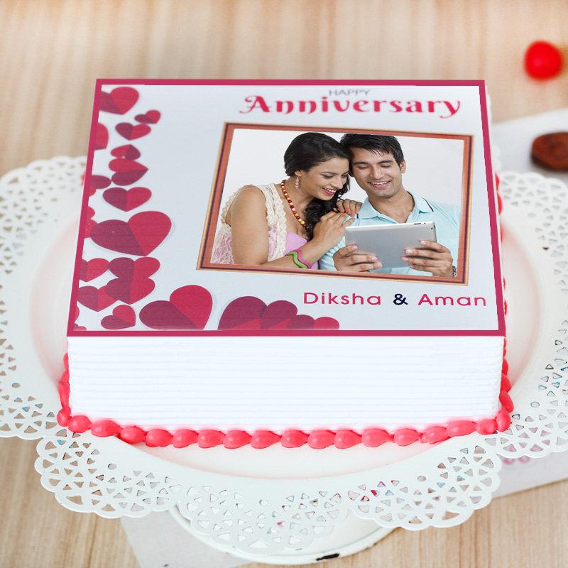 Wedding Anniversary Photo Cake