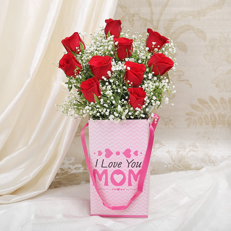 Roses for Mom in a Flower Box