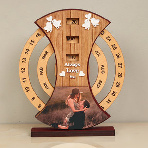 Lovebirds Anniversary Table Piece - Personalized Anniversary Gift