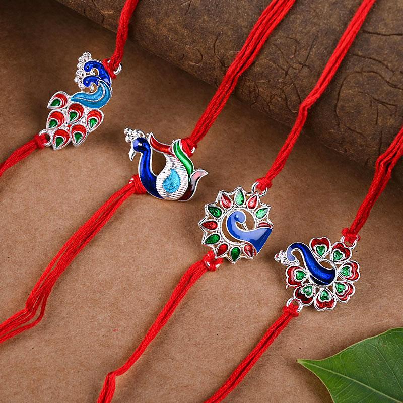 Rakhi in Lovely Blue Rakhi Combo