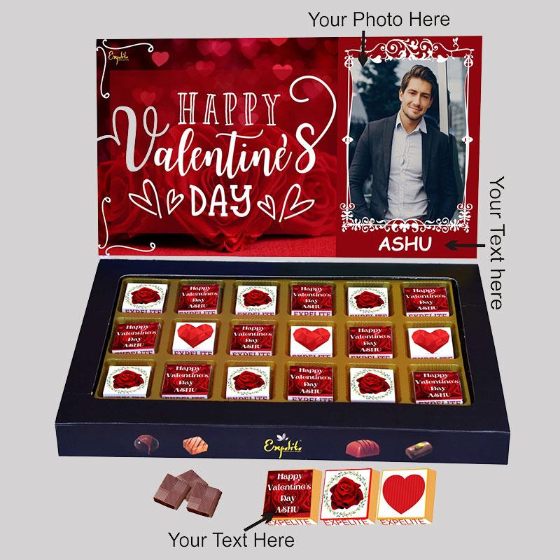 Lovely Vday Personalised Choco Box