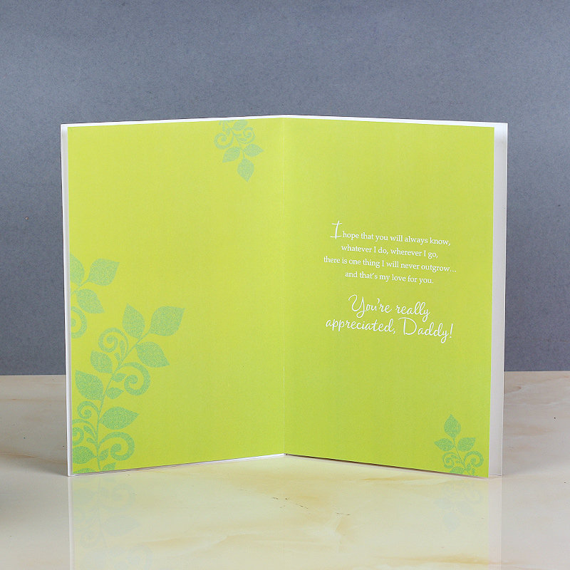 Love You Papa Card - Birthday Greeting Card for Dad