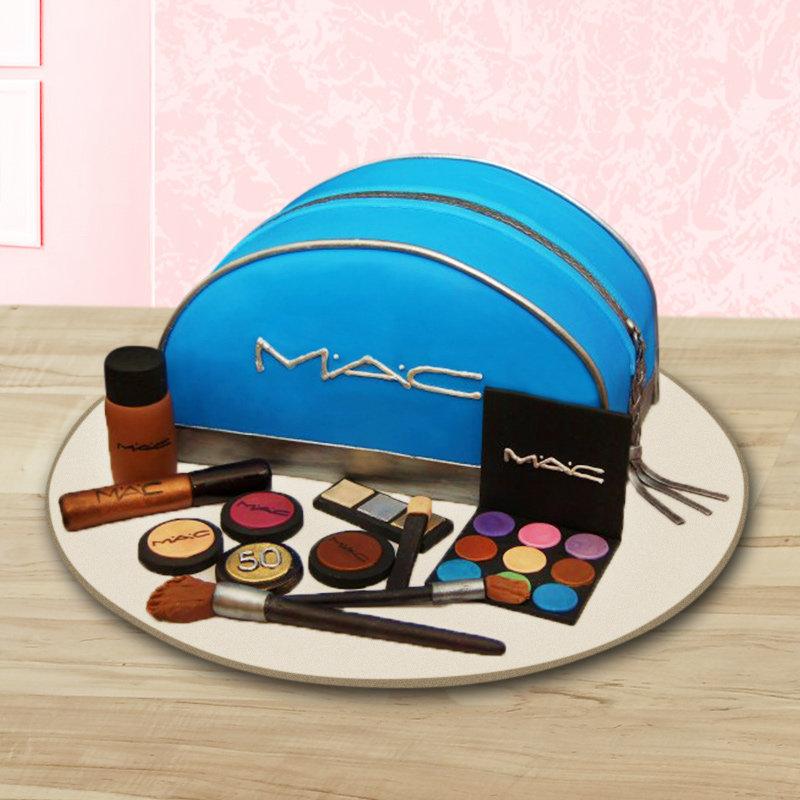 Mac makeup kit theme cake