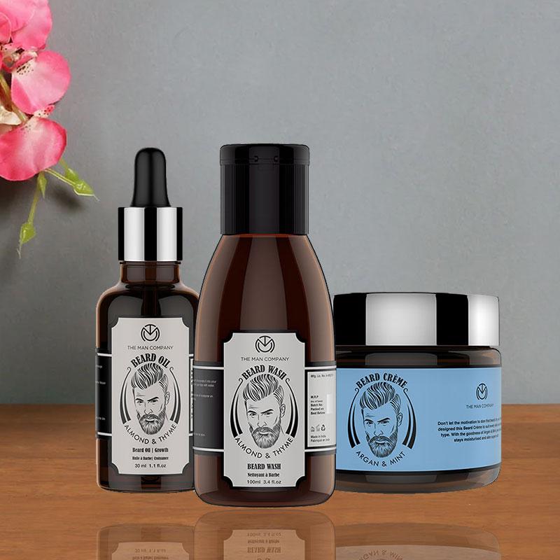 Macho Man Essentials - Beard Oil 30 ml and Beard Wash 100 ml and Beard cream 50 gm