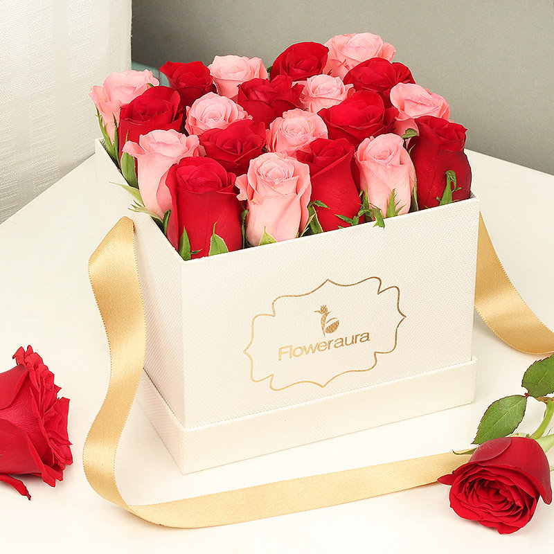 Rose Day Flowers - Red and Pink Roses for Valentines Day