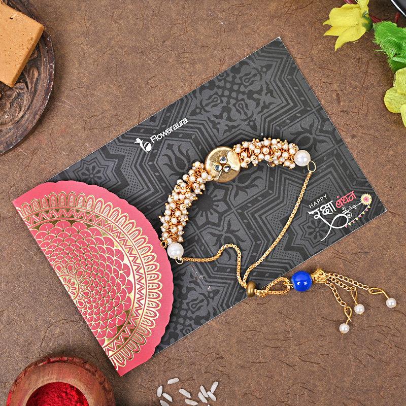 Online Bracelet Designer Rakhi Delivery in India
