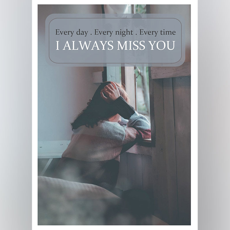 Personalised Miss You Very Much E Card