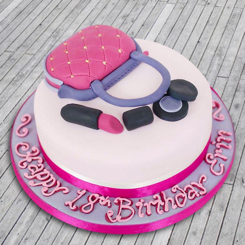 Makeup Bag Cake - A fondant cake for her