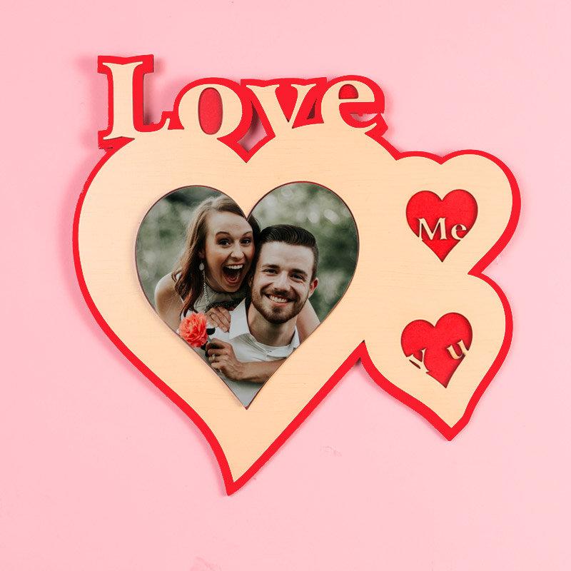 Me Loves You Photo Frame