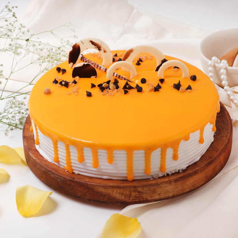 Chocolate Chips & Rings In Butterscotch Cake