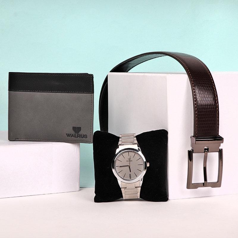 Mens Watch N Accessory ComboA Premium Wallet