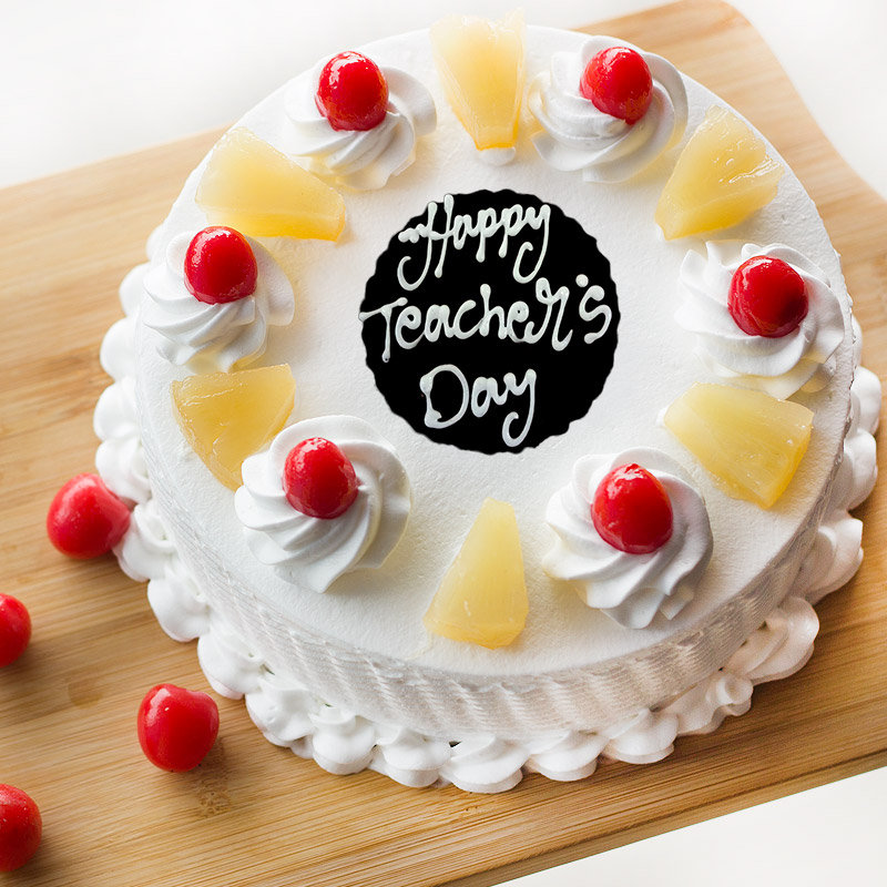 Teachers Day Pineapple Cake