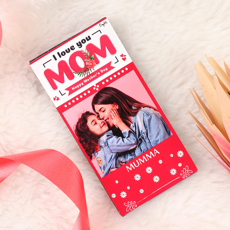 Message And Photo Mothers Chocolate and Personalised Chocolate Bar