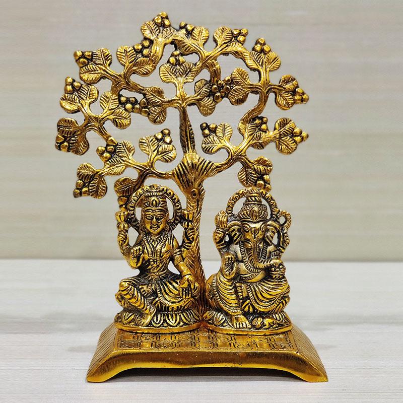 Metal Laxmi Ganesh Idol