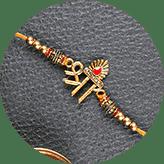 Send Metal rakhi online to India