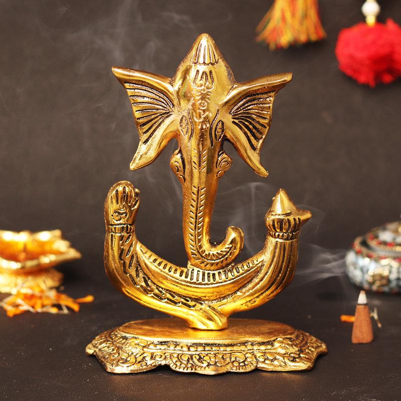 Metallic Ganesha - 13X8X17