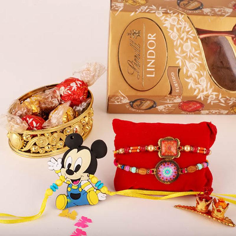 Mickey & Stone Rakhi Combo