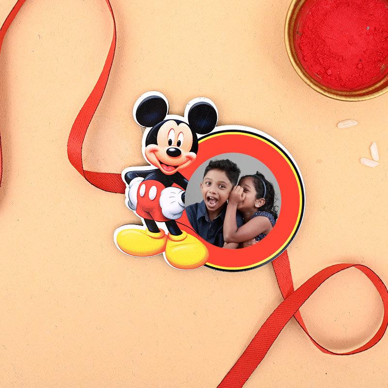 Mickey Custom Rakhi - One Mickey Personalised Rakhi