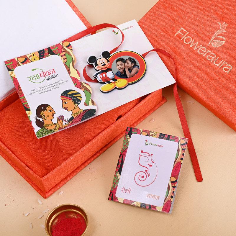 Send One Mickey Personalised Rakhi Online in India