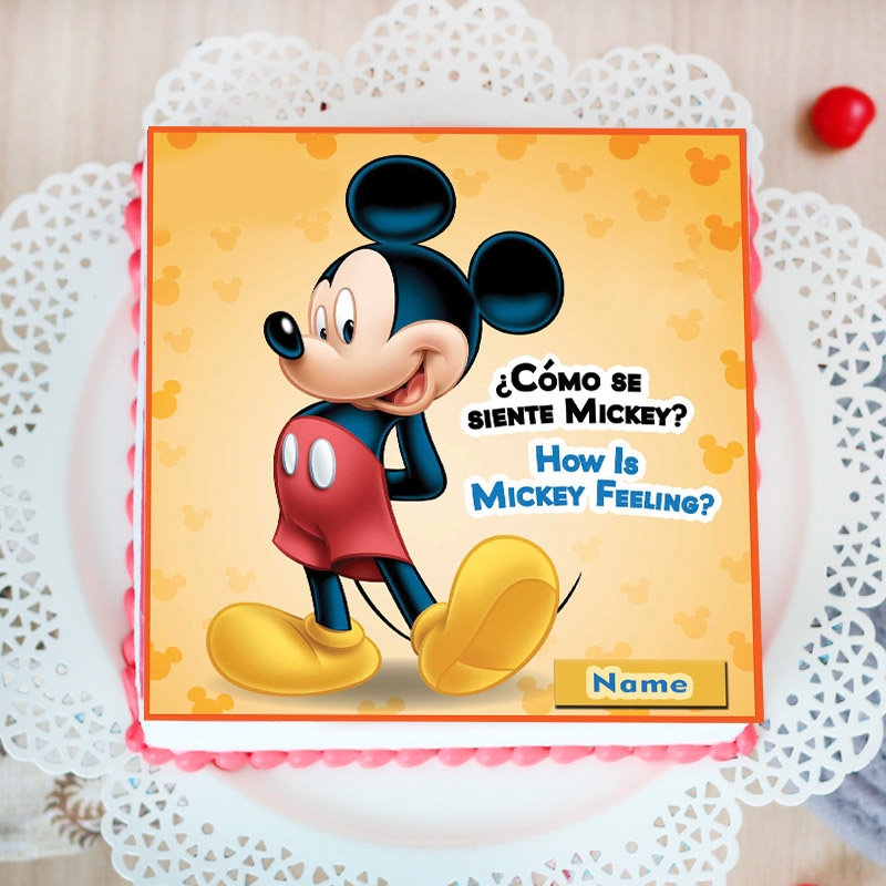 Poster Cake of Mickey Mouse
