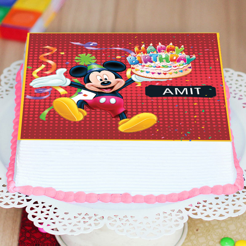 Mickey Mouse Birthday Poster Cake