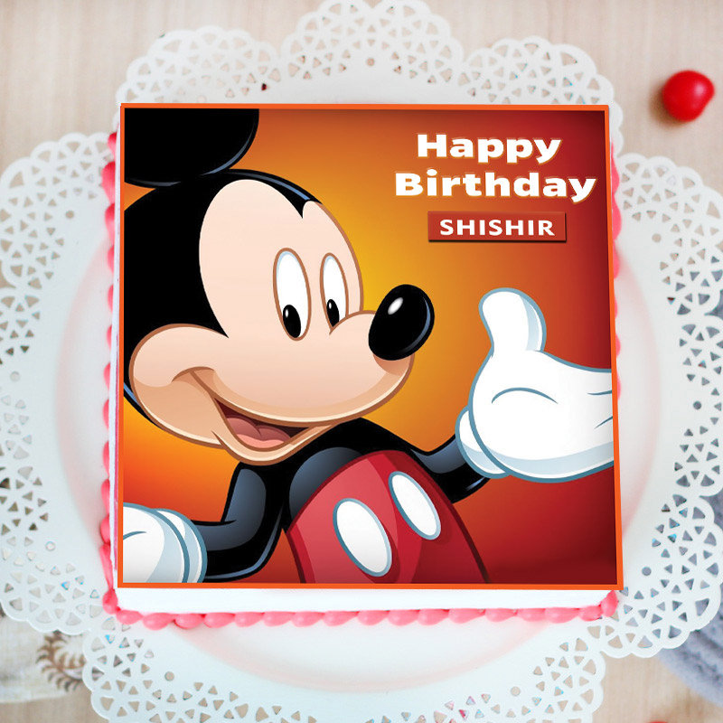 Mickey The Mouse Poster Cake