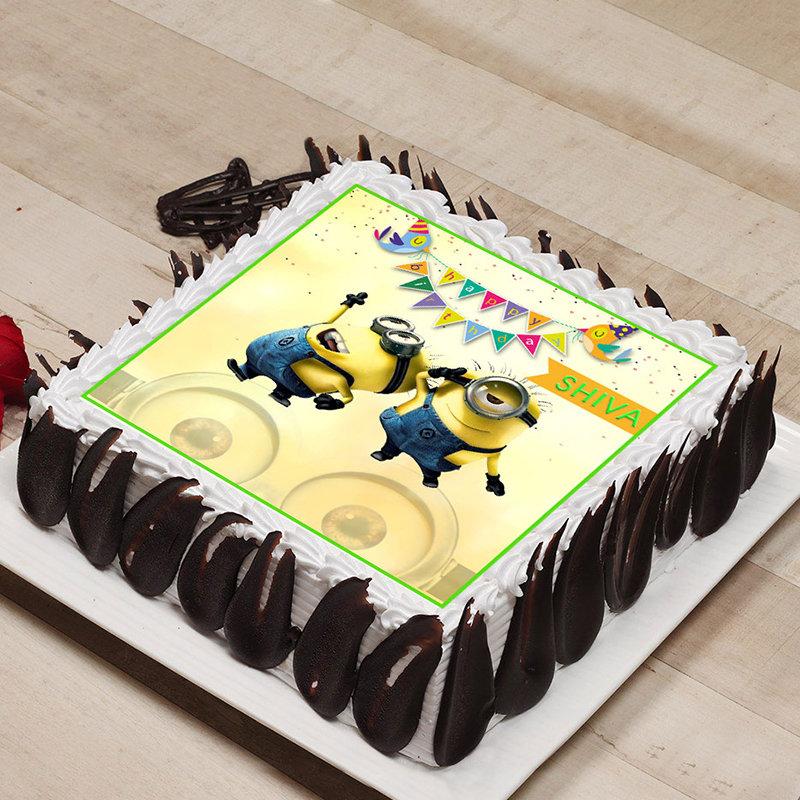 Miniature Minion Cake