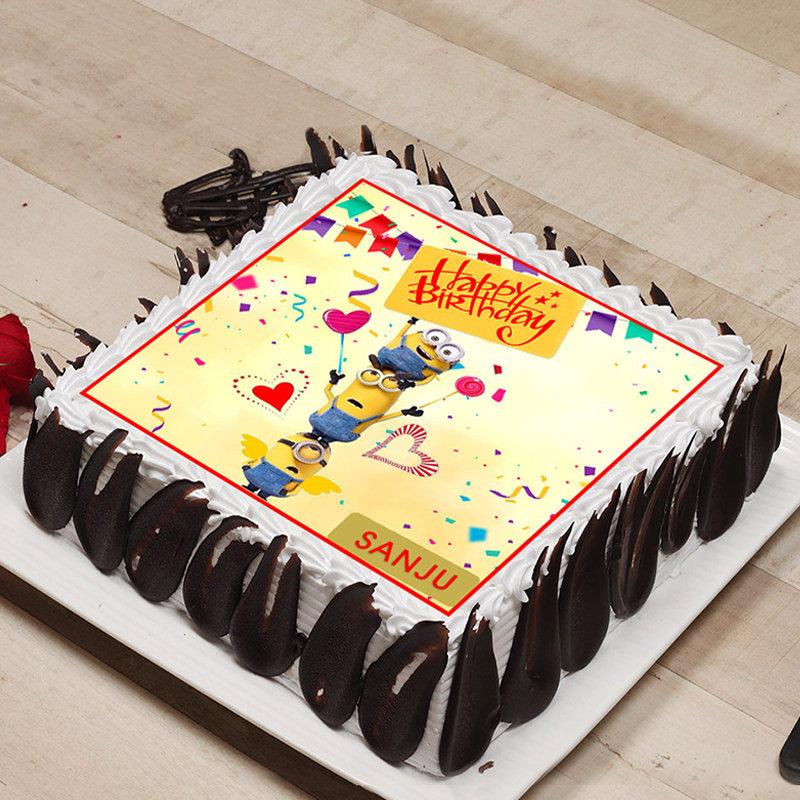 Minion Trio Birthday Poster Cake