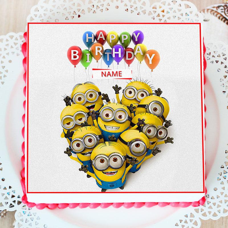 Kids Special Minion Photo Cake
