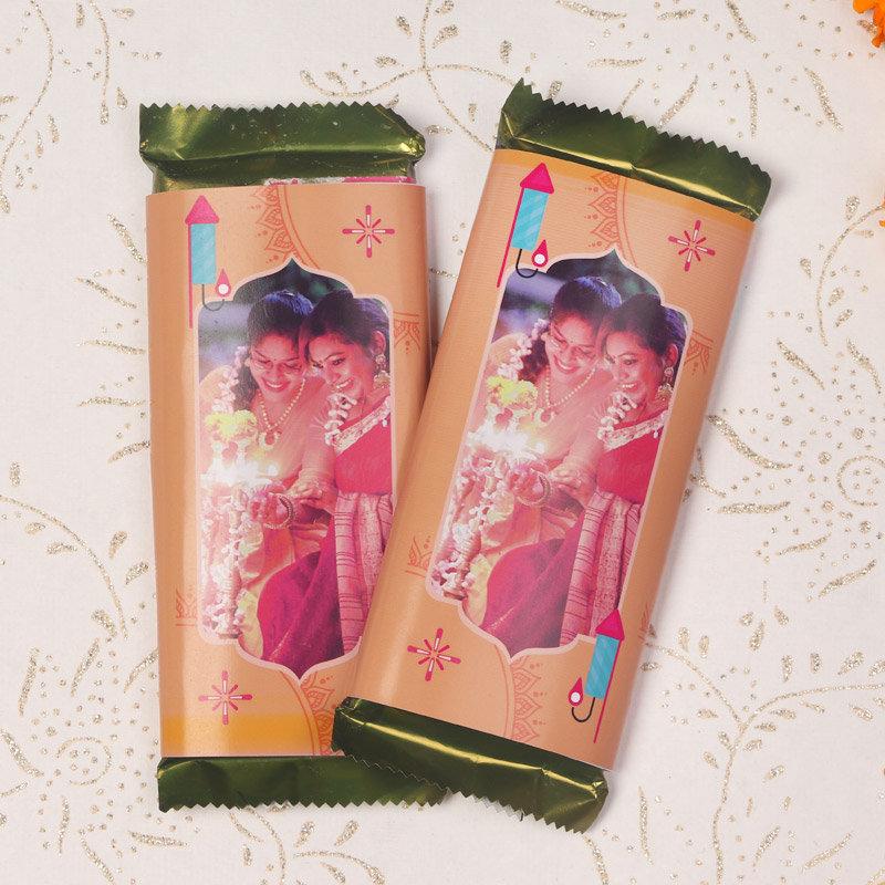 2 Personalised Chocolates for Diwali