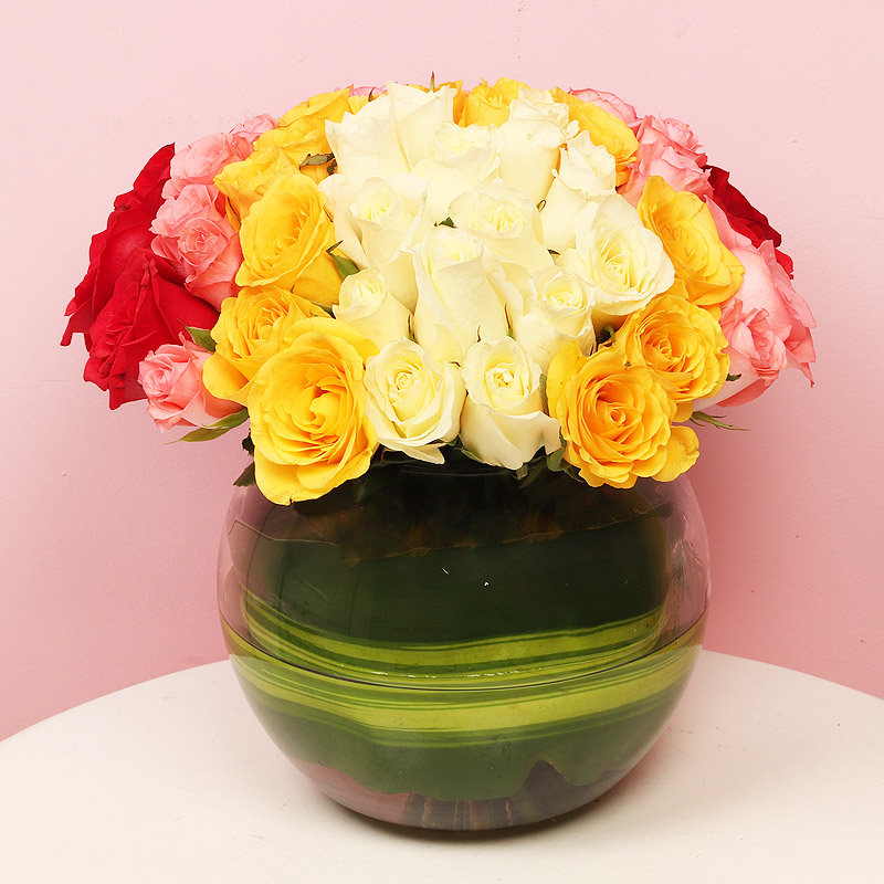 Mixed Color Roses For Your Love
