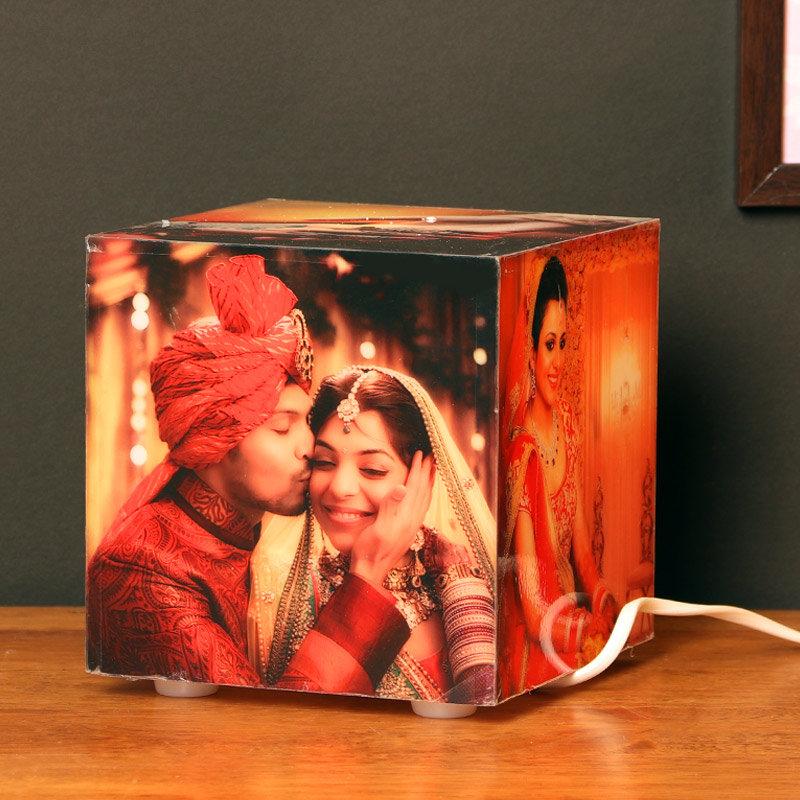 Personalized Cubelit Photo Lamp For Husband