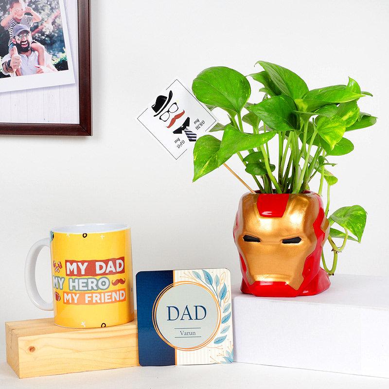 Money Plant In Iron Man Vase