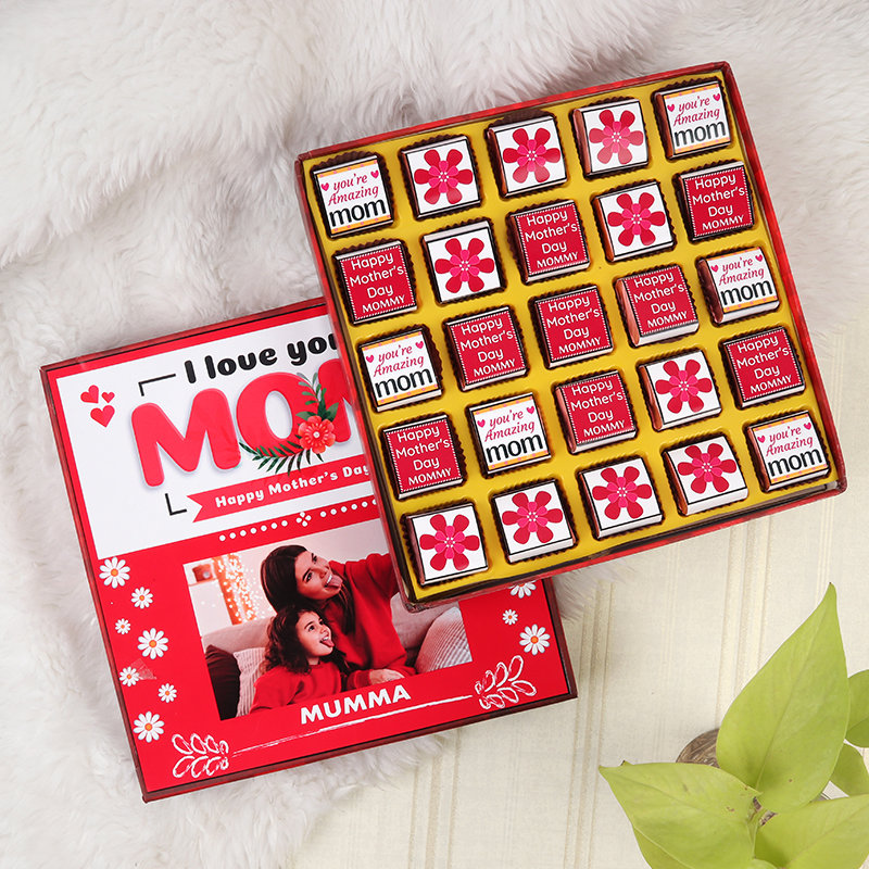 Mothers Day Creative Chocolates and 25 pieces of Premium Personalised chocolates