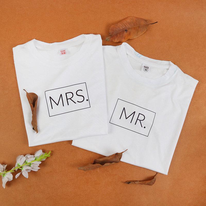 Mr N Mrs Couple Tshirts
