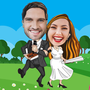 Caricature for Lovely Couple