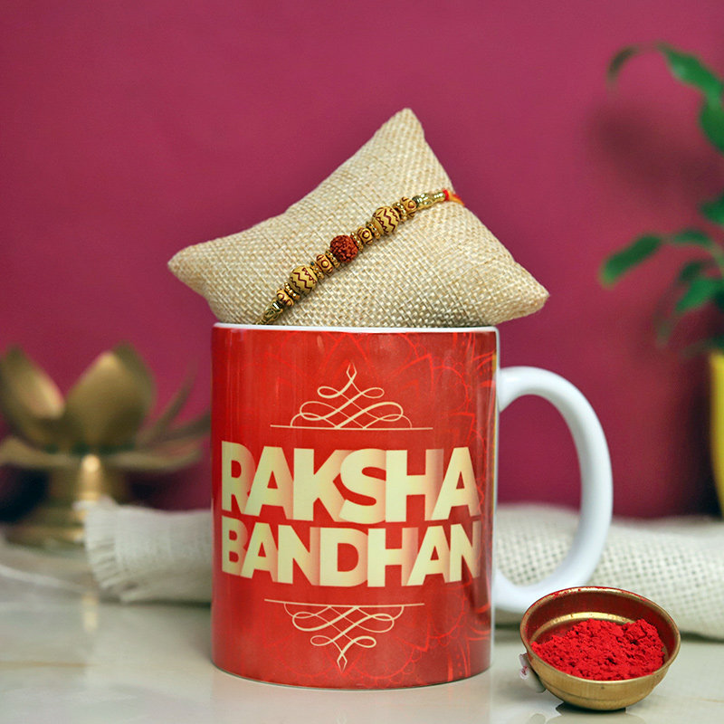 Mug N Rudraksha Rakhi
