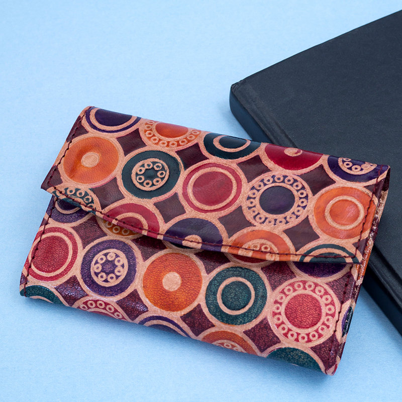 Multicoloured Leather Wallet