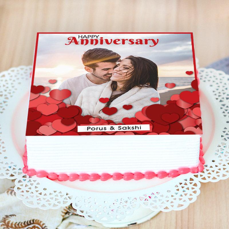 Marriage Anniversary Photo Cake