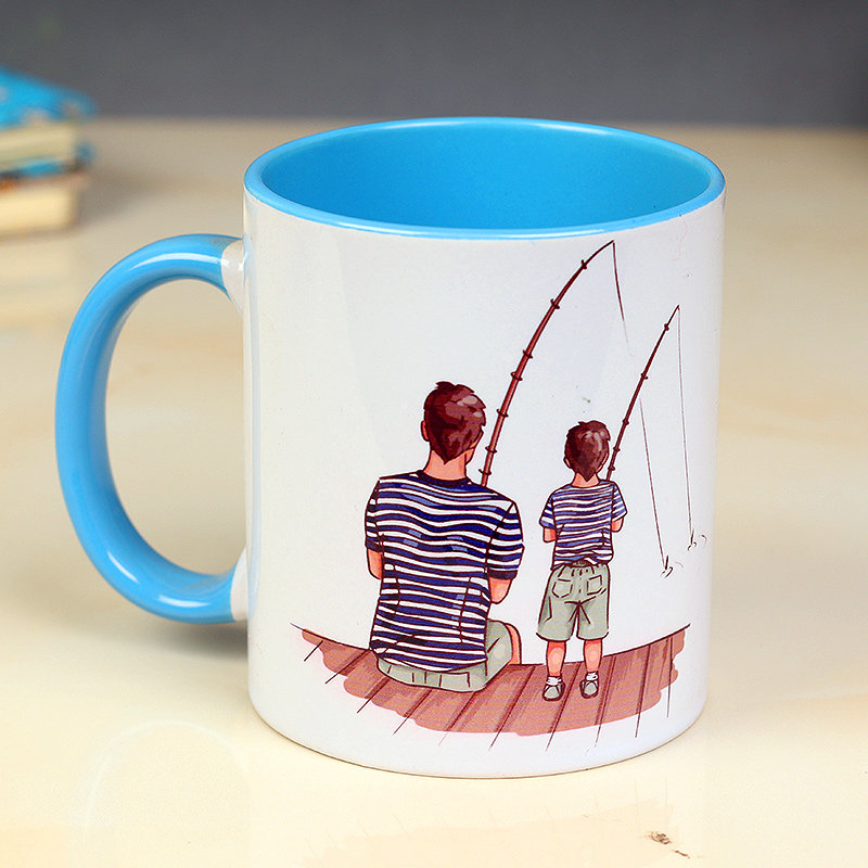 Printed White Ceramic Mug - Fathers Day Special Gift